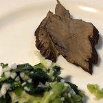 青菜塩麹和えと自家製いぶりがっこ