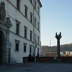 Schlossmuseum in Linz, der Eingang ist links