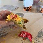 Taco with mild sauce