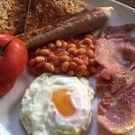 From the hot breakfast menu; Full English.