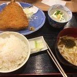大判アジフライ定食