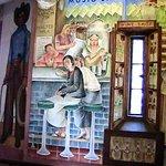 Peintures murales à la Coit tower pendant les visites a pied en français de San Francisco avec French Escapade.