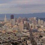 Vue de haut de San Francisco pendant les visites en français de San Francisco avec French Escapade.
