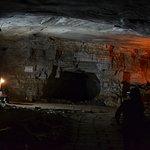 Big place inside cave kind of big hall