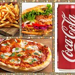 Menu F1 ( 1 Pizza +1 Panino Kebab +1 Small French Fries +1 CocaCola for 10.00€ )