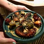 grilled octopus and scallops