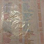 Kerala Hotel Menu Card