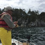 Fish our calm waters. The beauty of Hakai Pass is you can fish non-guided. We also have guiding services available if needed.