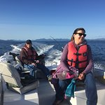 Fantastic self guided fishing. With our calm waters we fish and close proximity to the fishing hot spots it is easy to fish on your own. We provide a full orientation on fishing our area plus a boater safety course and bait cutting demostration.
