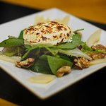 Toasted St. Tola's Goats Cheese Salad  Served with Pear & Walnut Dressing