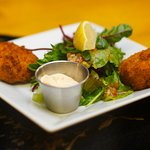 Thai Style Fish Cakes Served with Chili Mayo