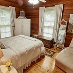 Cotton room with queen bed and private bathroom on the 1st floor of the B&B.