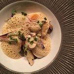 Vegetarian: mushrooms, pumpkin and red curry