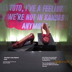 Dorothy's ruby slippers have been restored and are now back on display.  I visited during the week to avoid the crowds.