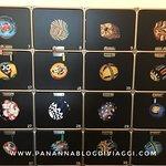 Ingresso - armadietti portaoggetti al museo del vetro murano