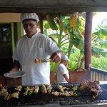 Almuerzo caribeño en el Snack Bar, cerca de la playa/ Caribbean lunch at the Snack Bar, near the beach