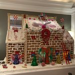 gingerbread house built by the chefs!