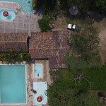 Foto aerea, de oiscinas