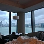View from corner Club Deluxe Harbourfront.  Lovely room with beautiful views.