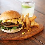 Delicious Jerk Chicken Burger gracing our lunch menu this summer.
