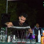Flair Bartending at Dining Park