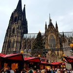 A view from Cologne Dom Christmas market
