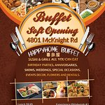Happy Home Buffet Soft Opening Price Menu.