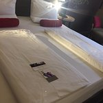 Very comfortable beds in Mercure Hotel, Munich