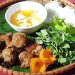 Traditional Hanoi Bu Cha ( grilled pork )