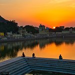Sunset at Pushkar Lake
