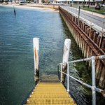 Wharf steps (250m from property)