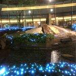 Center rock garden and fountains