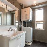 6F専用の洗面所、洗濯機