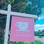 Keep an eye out for the Rainbow Falls Tea House sign