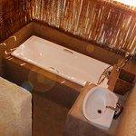 Internal view bush bath for a unique experience.
