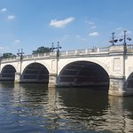Kingston Bridge, originally built in 1828 to replace the old wooden bridge. Widened in 1914 and