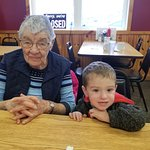 Breakfast with My Mom, Daughter, and Grand-children at Devine's..