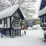 Model Village in the Snow