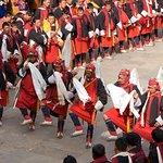 Worrier festival at punakha dzong.