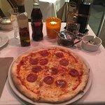 Diavola pizza, plain and simple.