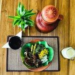 Organic Heirloom rice with vegetarian curries