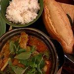 Duck leg curry