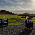 Archery, air pistol and axe targets setup