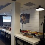 Taza Grill and Bar @2501 Argentia road newly renovated breakfast counter that has mostly in house made products