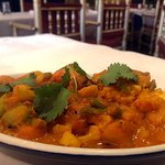 Veggie Curry Vegetables cooked in a thick, spicy and tangy gravy
