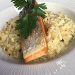 Light Lunches such as Salmon Fillet Risotto