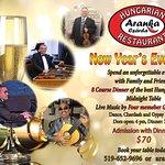 New Year's Eve extravaganza at the Aranka Csárda