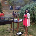 Garden party with music and barbeque