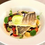 Sea bream fillet with vegetables