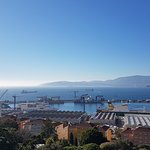 View of Gibraltar port from the room terrace